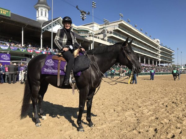 TAA advisory board member Donna Brothers reps the TAA at Breeders' Cup