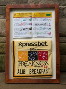 2015 alibi breakfast saddle towel and program