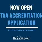 accreditation application now open graphic
