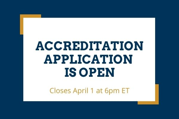 accreditation application is open